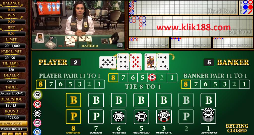 sbobet casino baccarat klik188